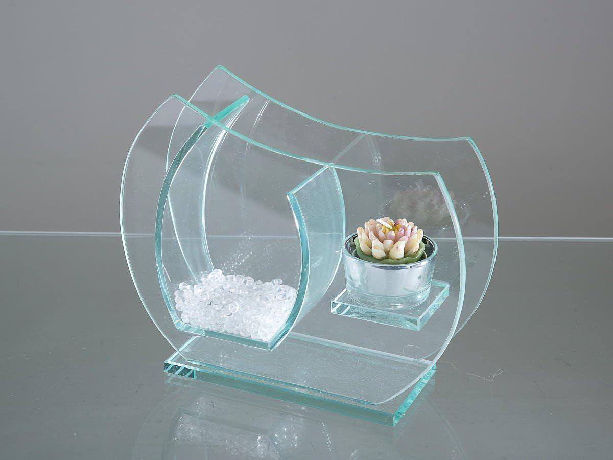 formano Vase mit Teelichtleuchter 812018 Leuchter Atlantis Glas Kombileuchter Kombivase