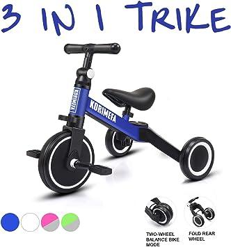 KORIMEFA 3 EN 1 Trciciclo Bicicleta de Equilibrio Triciclo para ...
