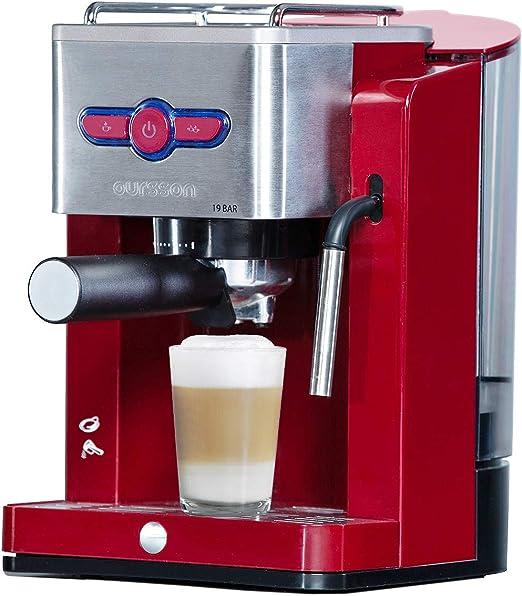 Oursson Cafetera Cappuccino y Café con 19 bares de presión, Tanque ...