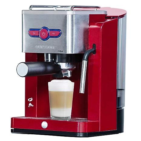Oursson Cafetera Cappuccino y Café con 19 bares de presión, Tanque de agua de 1.5