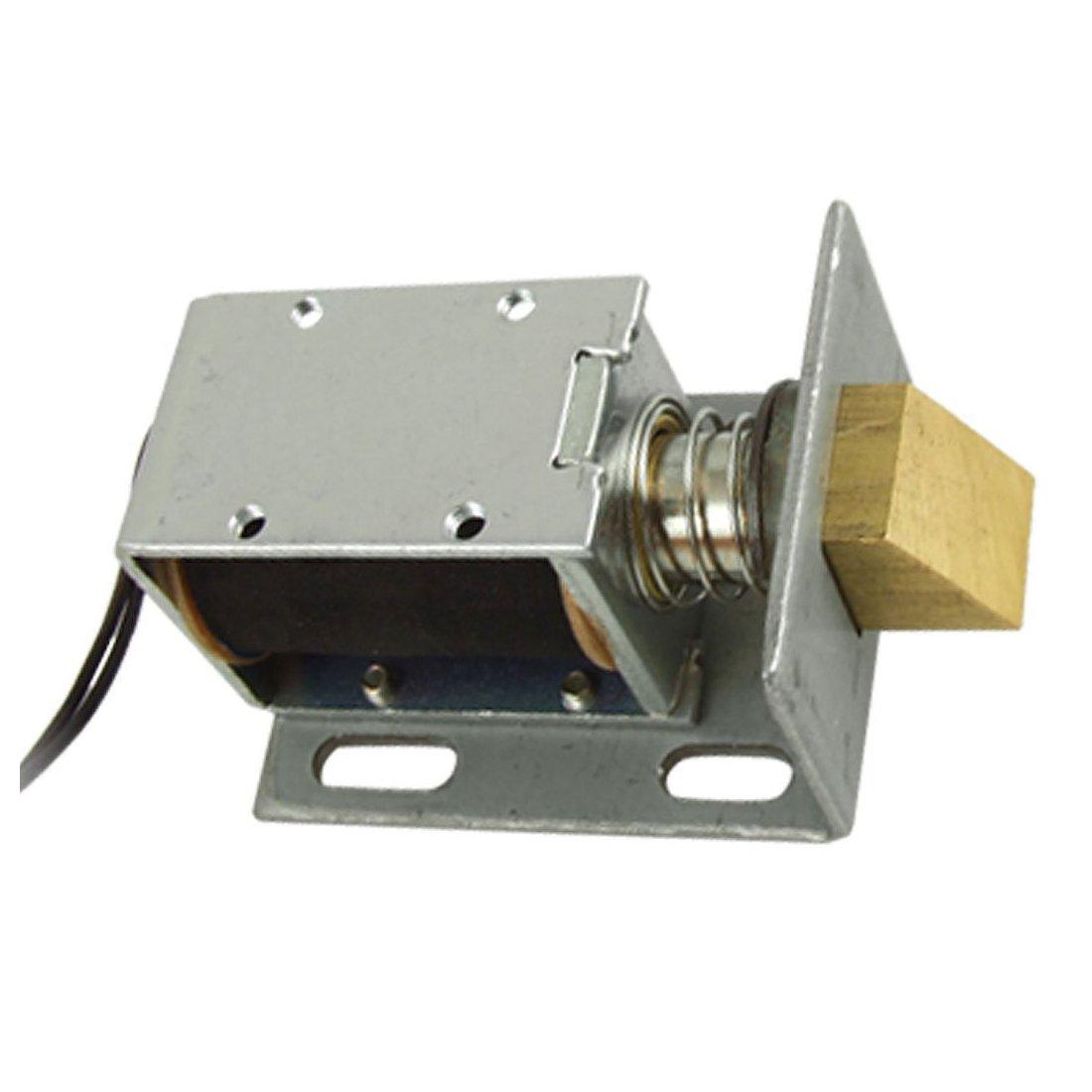 Door Solenoid - SODIAL(R)DC 12V Open Frame Type Solenoid for Electric Door Lock Silver