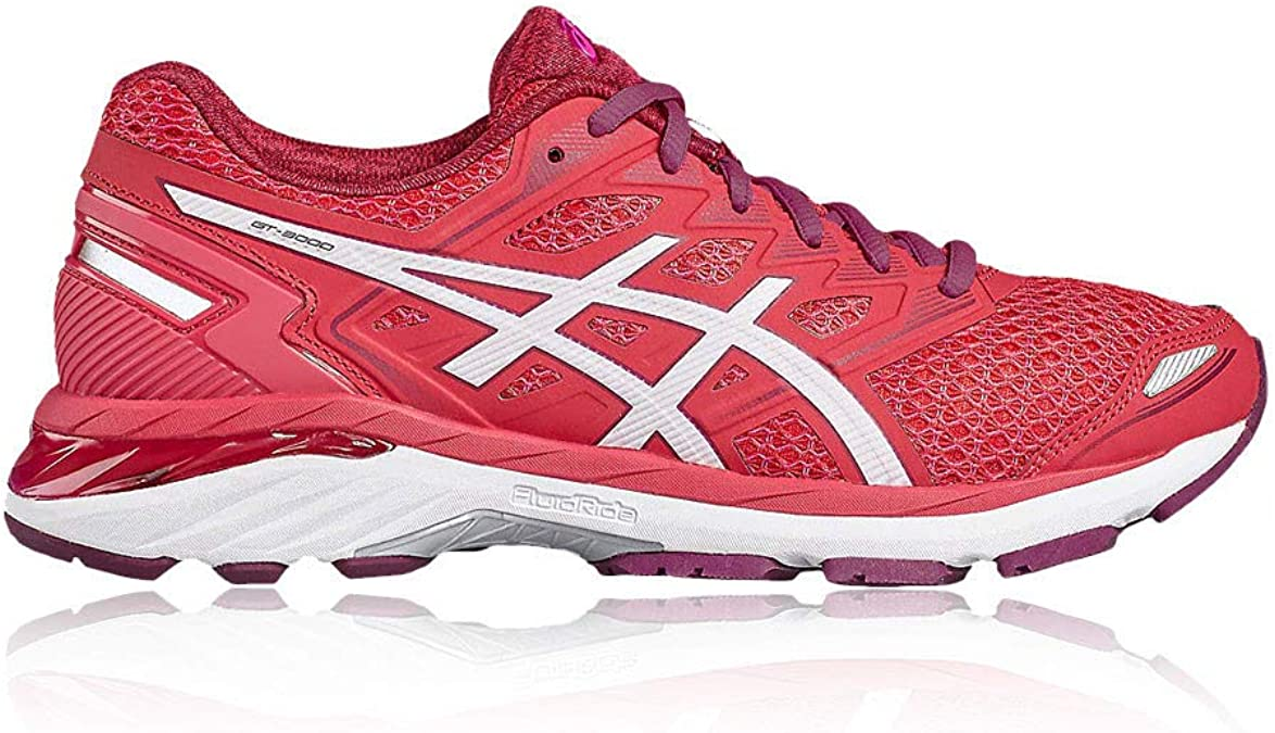 Asics - Gt-3000 5 - Zapatillas Running de Estabilidad - Bright Rose/White/Dark Purple: Amazon.es: Zapatos y complementos