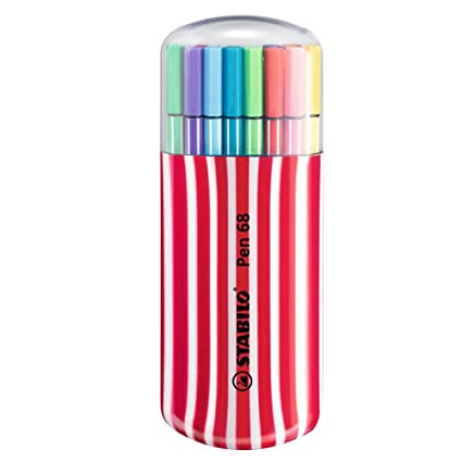 Rotulador STABILO Pen 68 - Estuche premium Zebrui con 20 colores