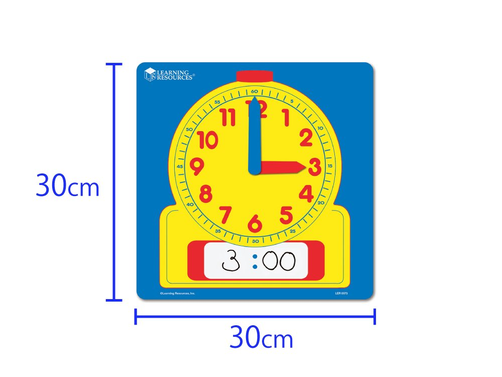 Learning Resources Write /& Wipe Demonstration Clock LER0573