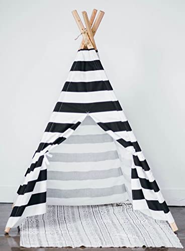 wholesale dealer fdd56 b102a Kids teepee play tent Black and White stripes