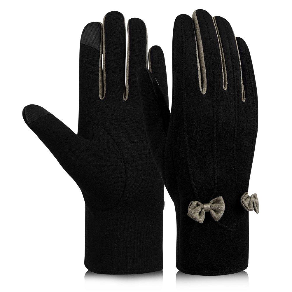 Vbiger Touchscreen Handschuhe Winterhandschuhe Damen Warme Handschuhe Damen Fahrradhandschuhe Winter Handschuhe mit Fleecefutter