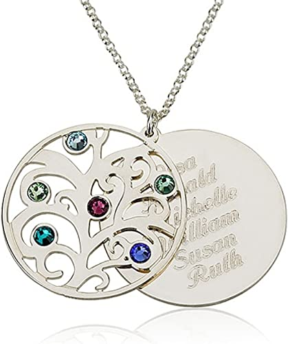 Personalized Family Necklace Tri-Coloured Mothers Necklace with Engraved Names