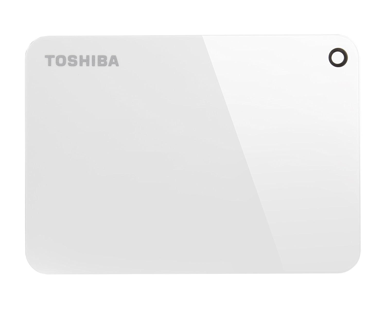 Toshiba Canvio Advance 1TB Portable External Hard Drive USB 3 0, White  (HDTC910XW3AA)