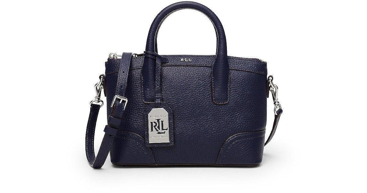 c5da2f2ce56d Ralph Lauren Ladies Leather Navy Blue Fairfield Mini Satchel Shoulder Bag  Gift BN Marine  Amazon.co.uk  Shoes   Bags