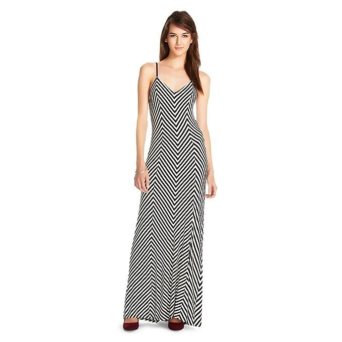 2b3ae76a6fadd Mossimo Supply Co Women s Striped Spaghetti Strap Long Dress at ...