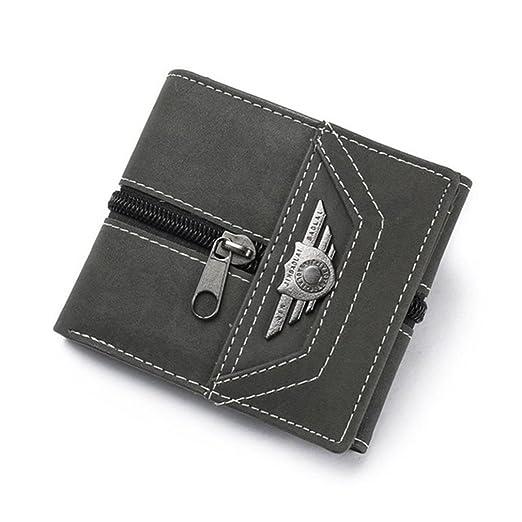 22e553f9ba81 Slim Leather Wallets Men Designer Small Purse Rfid Card Holder Mini Holders  Carteira Masculina at Amazon Men's Clothing store: