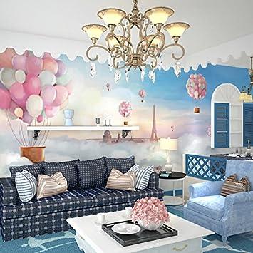Wongxl Cute Cartoon Ballon Kinderzimmer Wand Tapete ...