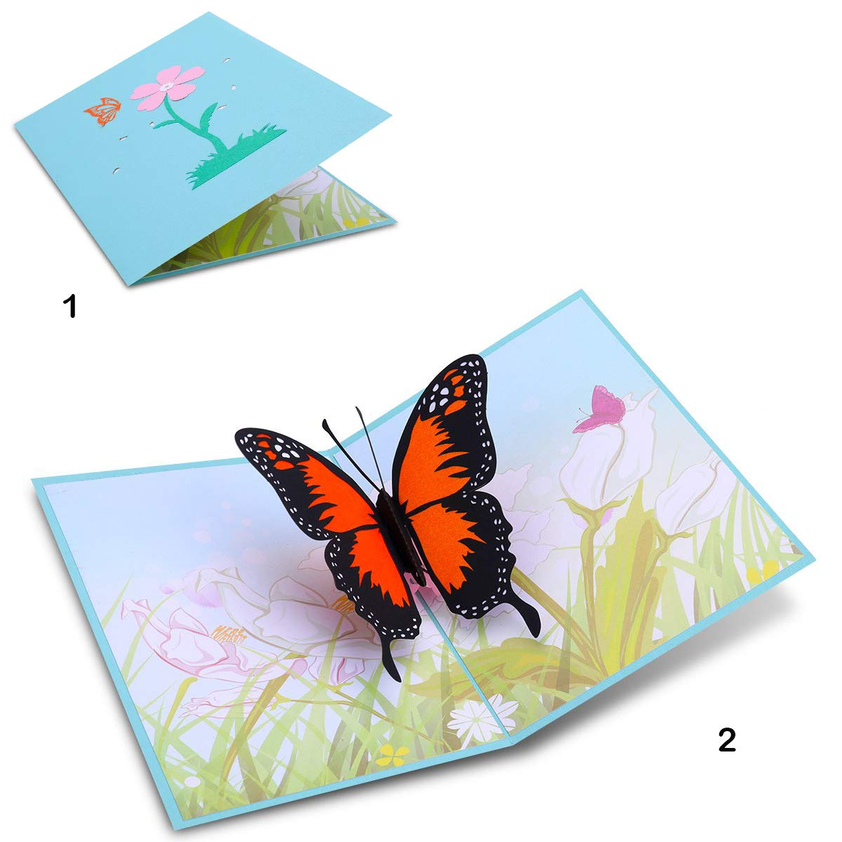 Mothers Day Butterfly 3D Pop Up Cards