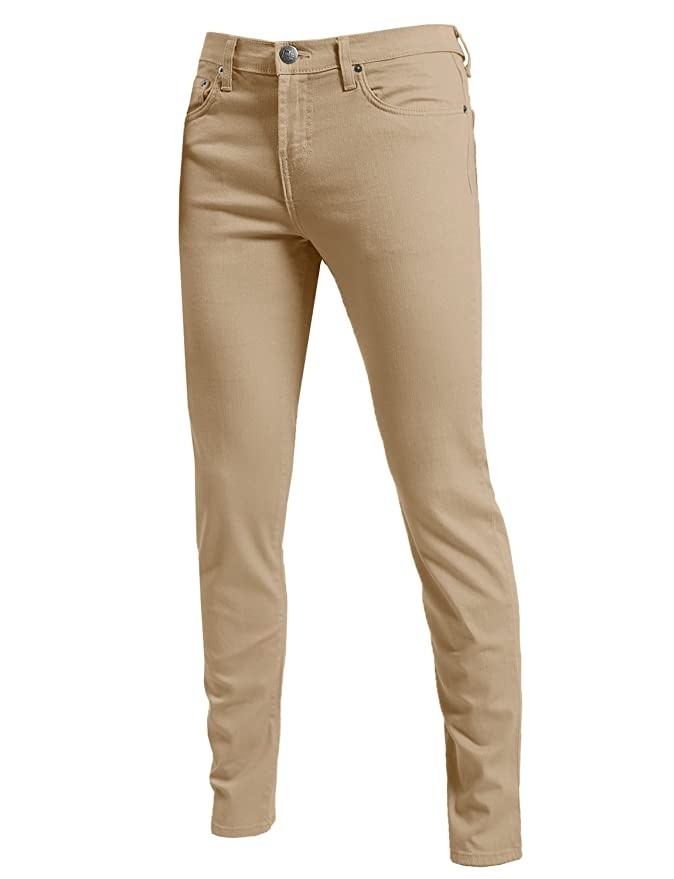 Men's Clothing Skinny Pants Hot Sale Mens Casual Trousers Solid Color Slim Fit Urban Straight Leg Pants Men Belt Cotton Autumn Pencil Pants New To Be Distributed All Over The World