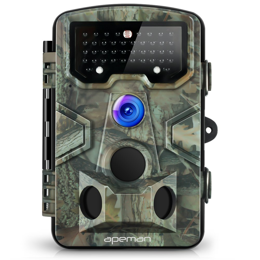 APEMAN Trail Camera 120° Wide Angle Detection Game Hunting Camera 12MP 1080P Wildlife Camera with 44 PCs IR LEDs No Glow Night Capture Design for Wildlife, Farm, and Home Security by APEMAN