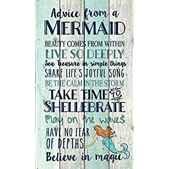 Advice From A Mermaid Believe In Magic 24 X 14 Wood Pallet Wall Art Sign  Plaque