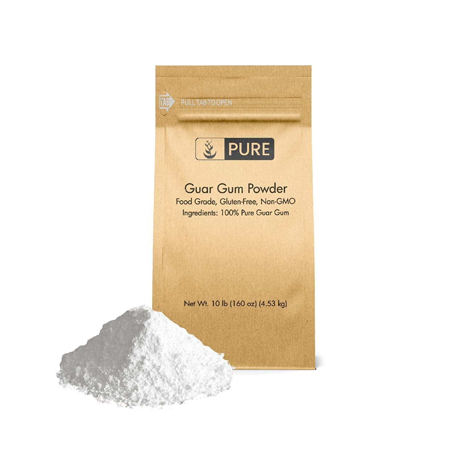 Guar Gum Powder (10 lb.) by Pure Ingredients, Food Safe , Gluten-Free, Non-GMO, Thickening Agent