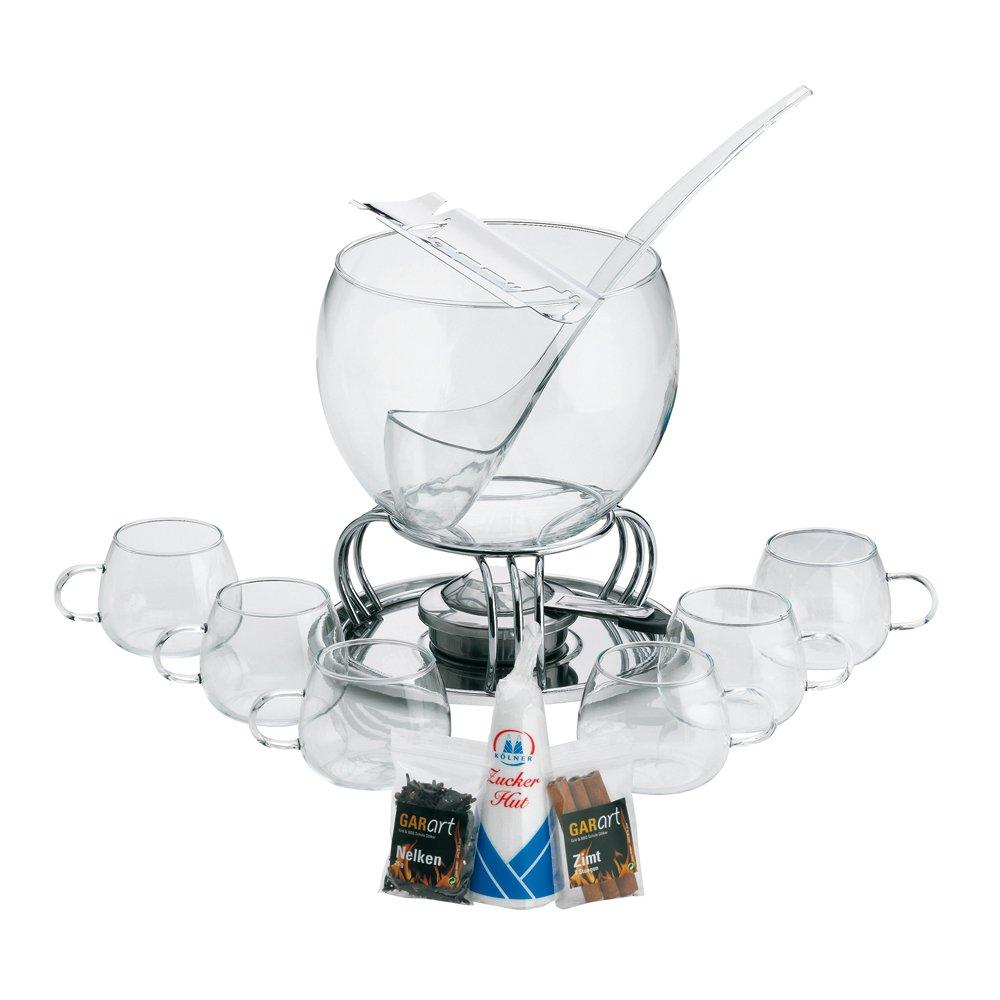 Kela 366160 Glas-Feuerzangenbowle-Set, Heinz Rühmann, 15-teilig, 3,5 l, Feuerzangenbowle Heinz Rühmann Heinz Rühmann Bar Barzubehör Tisch- & Wohnaccessoires