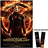 "The Hunger Games: Mockingjay Part 1 (2014) Movie Poster Reprint 13"" x 19"" Borderless Katniss Fire + Laminated bookmark"
