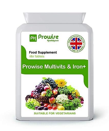 Multi Vitamins & Iron 180 Tabletas (dosis de 6 meses) - Suplemento diario de
