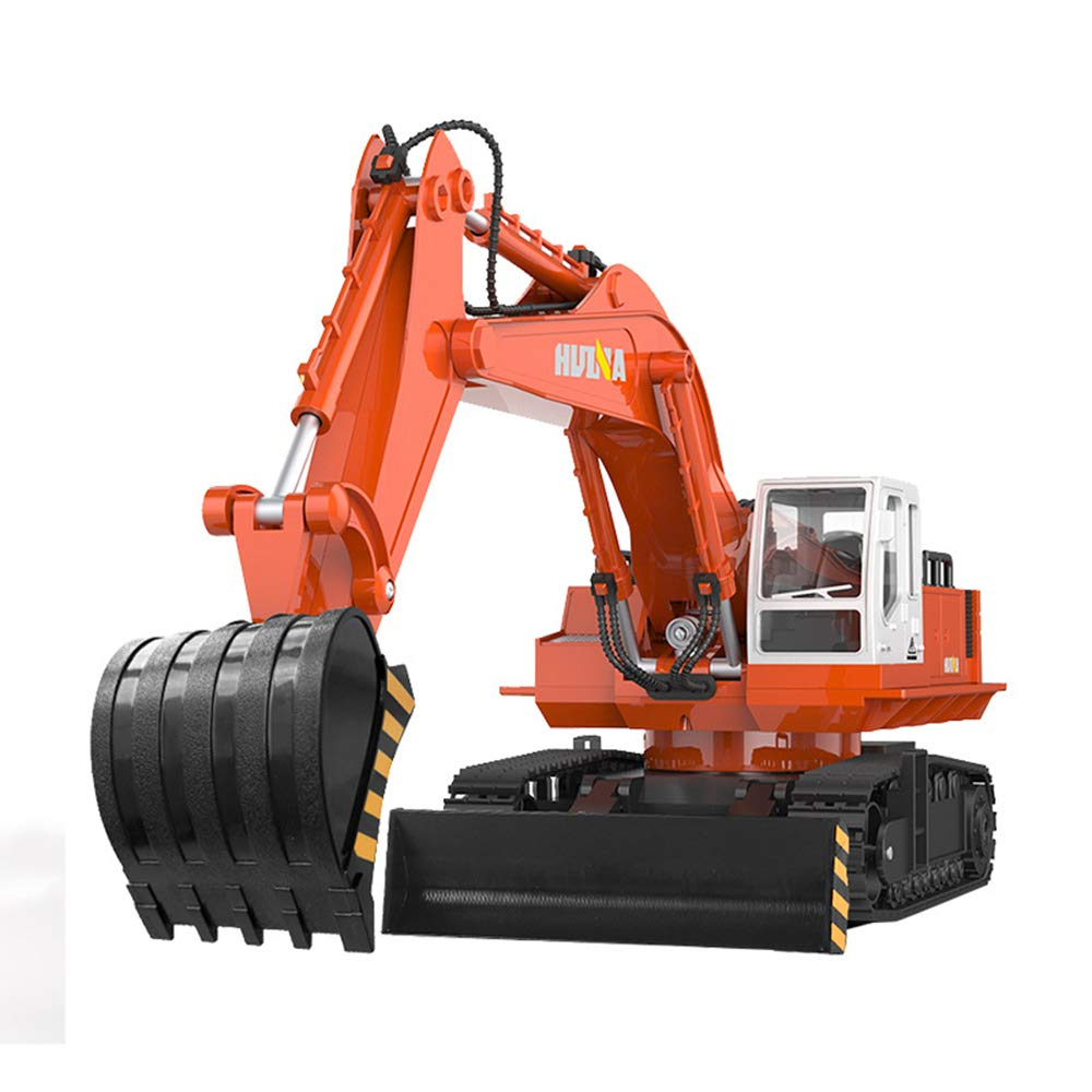 Remote Control Excavator, Remote Track Crawler Excavation, Two-in-one Tractor, 11 Channels of Analog Sound and Flashing Lights XHH