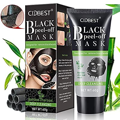 Black Mask, Charcoal Mask, Peel Off Mask, Blackhead Remover Mask, Charcoal Peel Off Mask, Deep Cleansing Black Mask Purifying Face Mask Peel Off for Face Nose Acne Treatment Oil Control - 60g