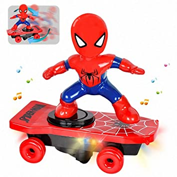 Amazon.com: Rnnst Superhero Spider Stunt - Patinete ...