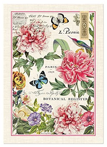 Michel-Design-Works-Kitchen-Towel-Peony-Design-100-Cotton-Kitchen-Towl-Multicolor