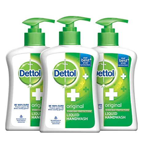 Dettol Original Germ Protection Handwash Liquid Soap Pump, 200ml