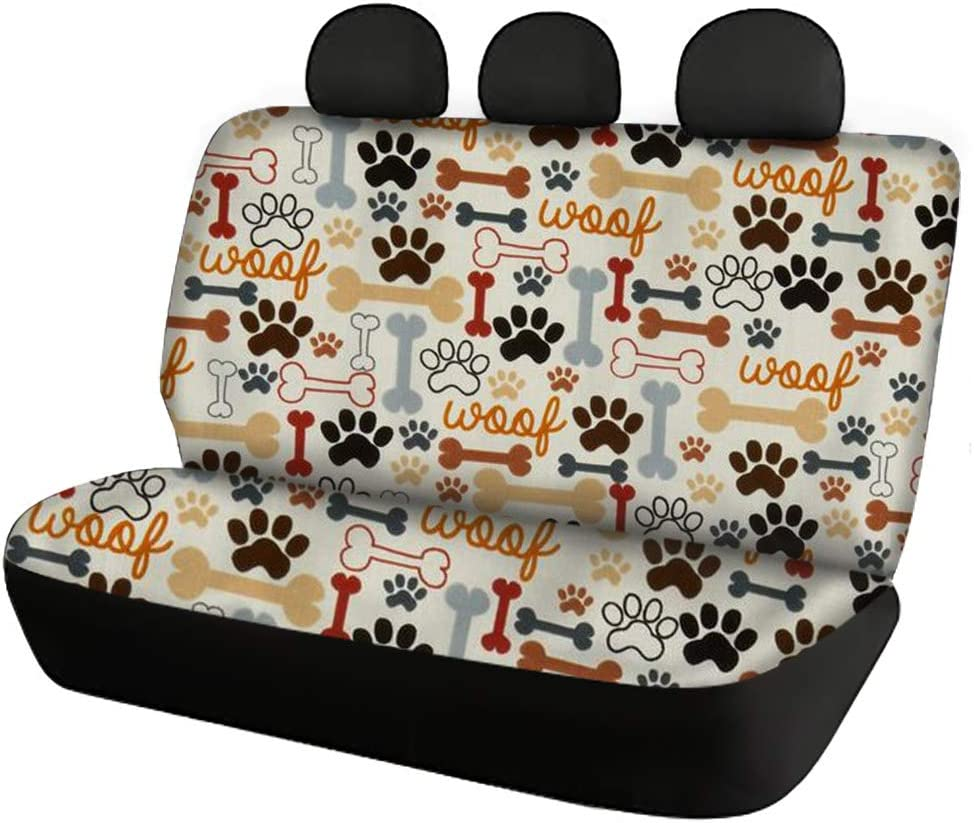 Belidome Cool Galaxy Wolf Pattern Car Seat Covers Decoretive Accessories with Steering Wheel//Seatbelt Pads Soft Nofading Washable for Auto Sedan