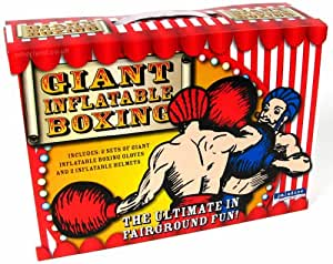Set de Boxeo Gigantesco Hinchable (Guantes y Cascos)