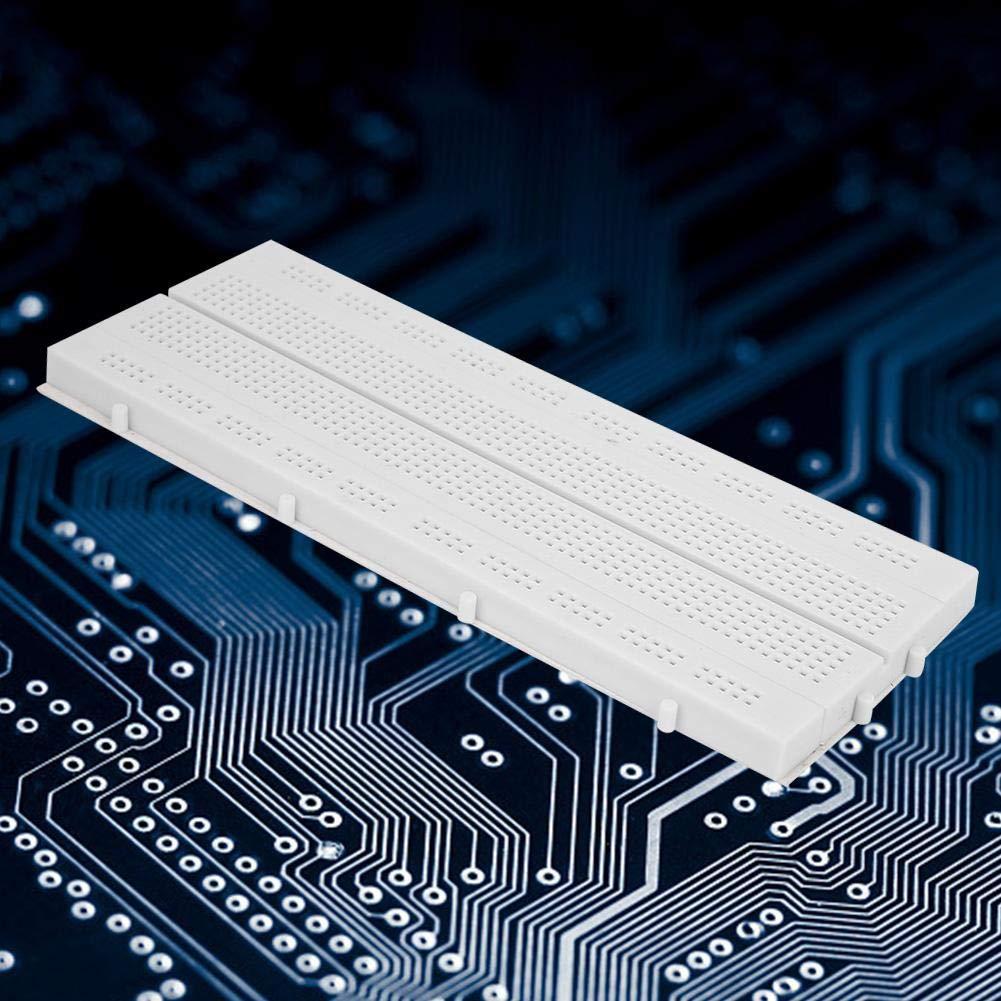 Liukouu 2pcs GL-12 840-hole Breadboard Solderless PCB Circuit Testing Board Reusable