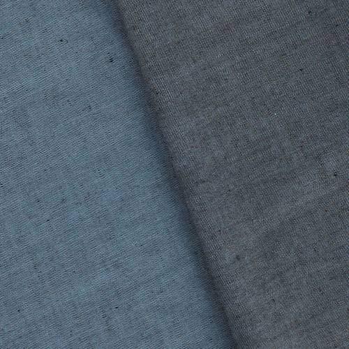 Black/Blue Tropical Wool Blend Twill Gabardine Shirting, Fabric by The Yard
