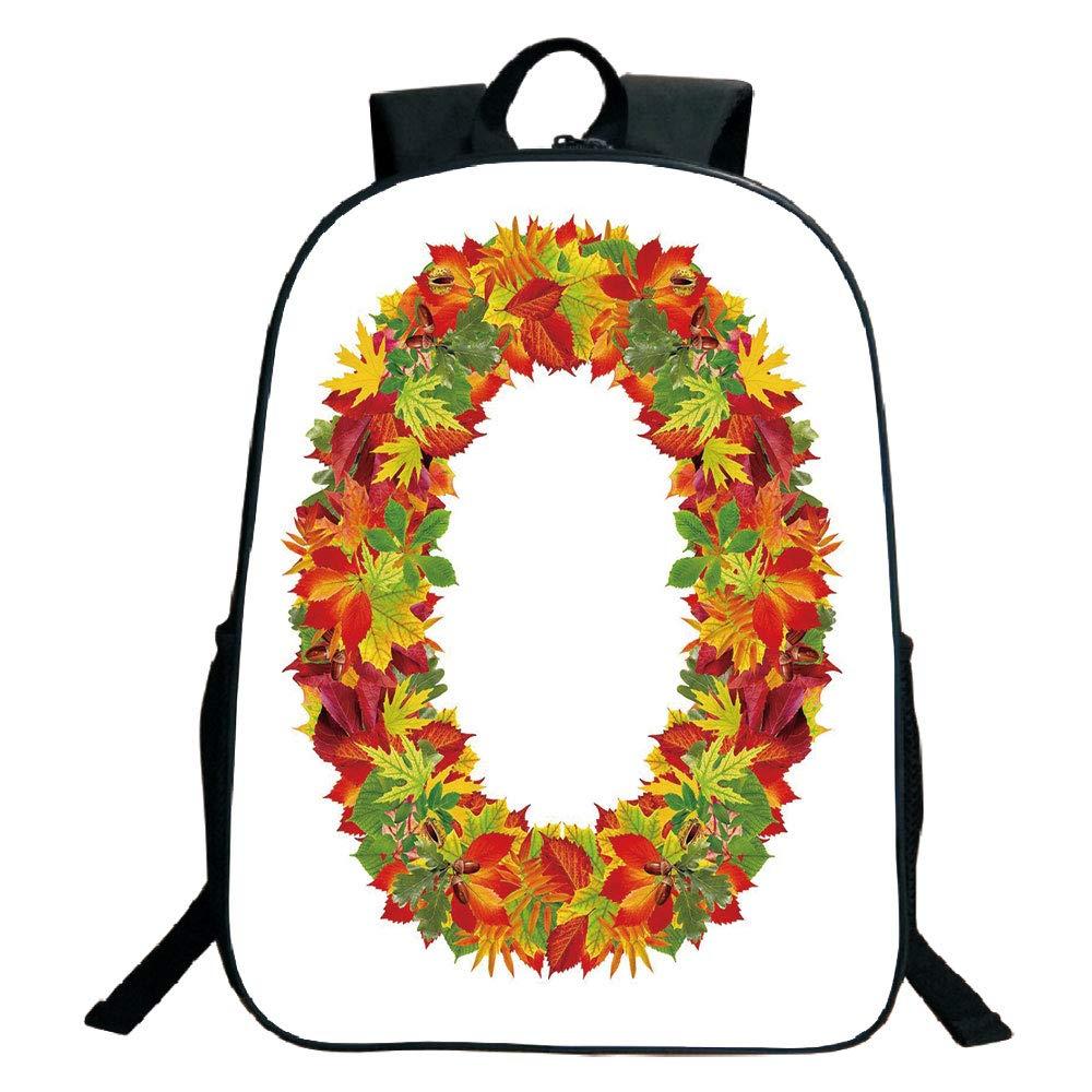 f208a8a60f1a Amazon.com: 3D Print Design Black School Bag,backpacksLetter O ...
