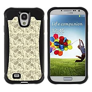 Perfectly-Diy Andre-case FlareStar Colour Printing cute leaves Heavy Duty Armor Shockproof Cover Rugged case cover a48dlC3PpcX for SAMSUNG Galaxy S4 IV / i9500 / i9515 / /