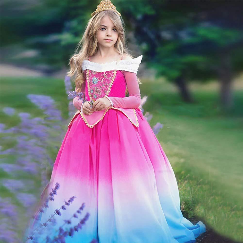 c4b9a12d4 OBEEII Bella Durmiente Disfraz Aurora Carnaval Traje de Princesa para Niñas  Chicas 4-12 Años  Amazon.es  Ropa y accesorios