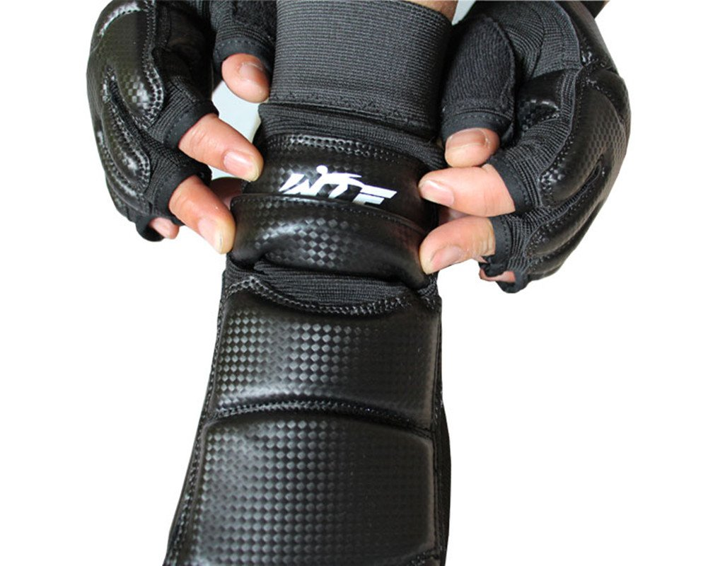 WTF Approved Training Boxing Martial Arts Boxing Punch Bag Sparring Muay Thai Kung Fu Feet Protector TKD KTA Foot Gear Support for Men Women Kids Baselay Taekwondo Foot Protector