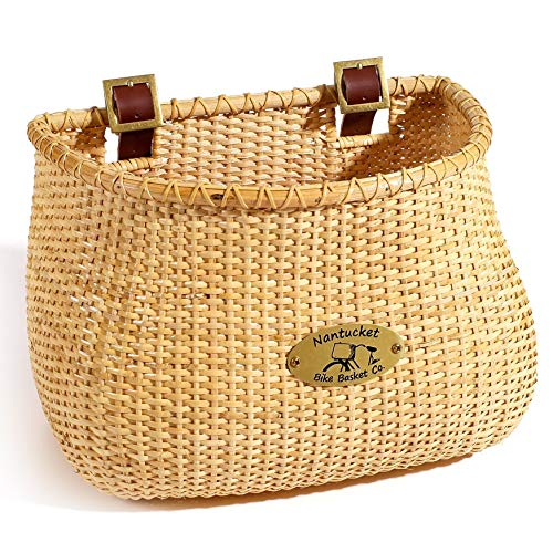 Nantucket Bicycle Basket Co. Lightship Collection Adult Bicycle Basket, Classic/Tapered, Natural (Schwinn Bicycle Basket)