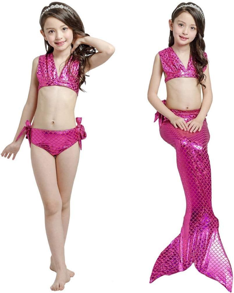 Girls Tops Panties Mermaid Tail Kids Fairy Tail Princess Bikini Swimwear Set