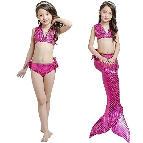 XDH Bikini Ajustable para Nadar Cosplay Traje De Baño Sirena ...