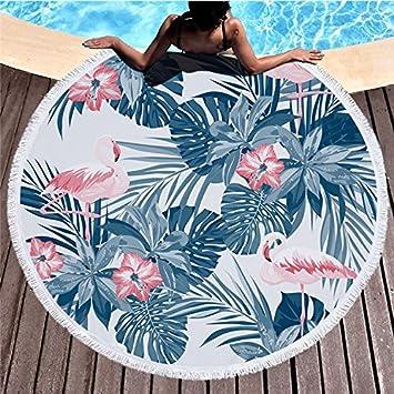 PLYY Toalla de Playa con Flecos Redondos Grueso Swim Chal Alfombra Exterior Alfombra de Piso Playa Cortina de Toallas Tapiz Decoración de la Pared, ...