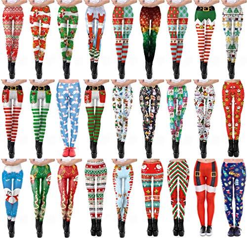 Leggings Taille Haute Pantalon 3d 20 Hibote xl Jogging Noël Mince Pantyhose Femmes De S Imprimer Fitness TgwIqdp