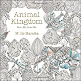 Adult Coloring Book: Stress Relieving Patterns -- Animal Kingdom Coloring Book for Adults Relaxation (free bonus sheet of stickers included, sticker sheet designs may vary)