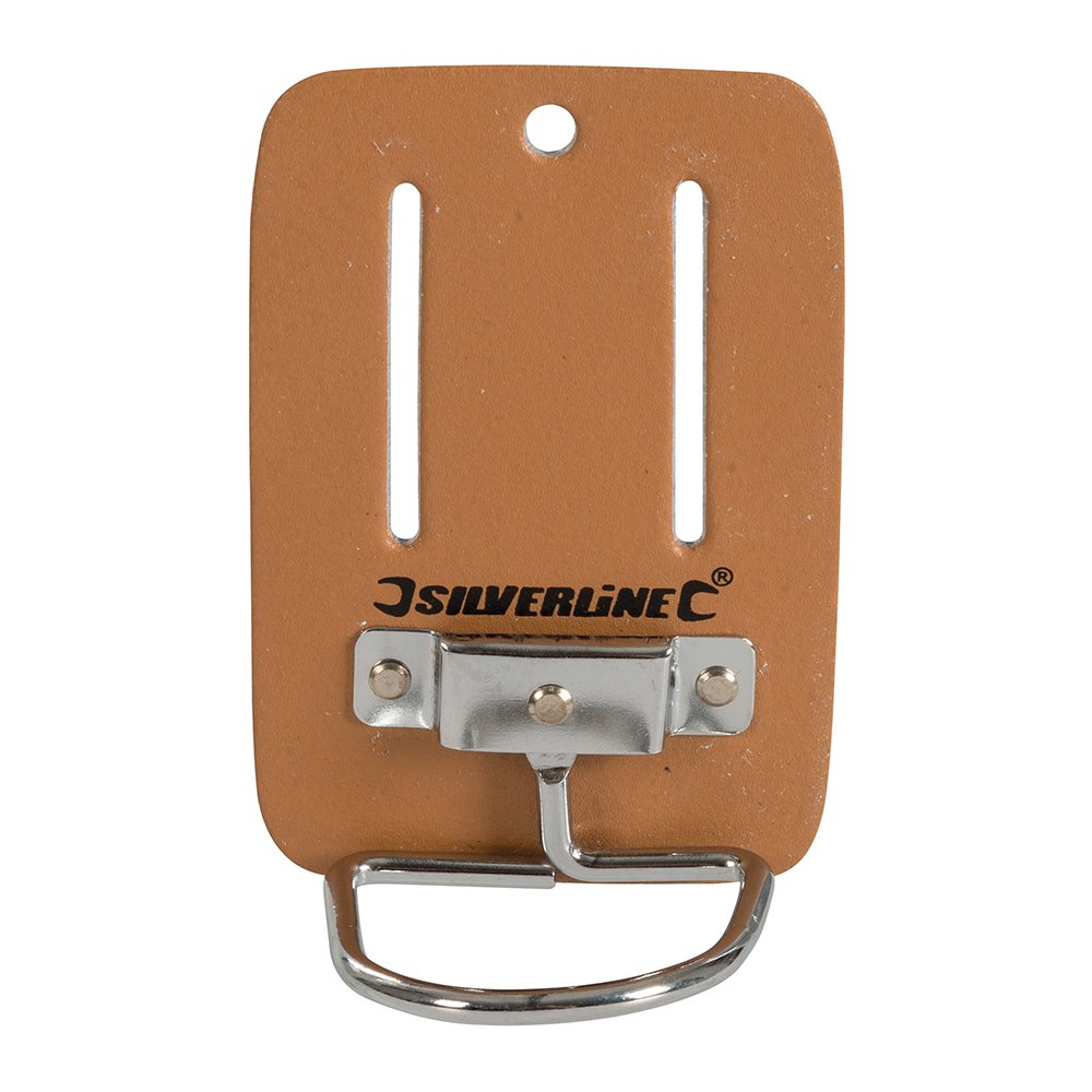 Silverline CB06 Porte-marteau en cuir pour ceinture 100 x 50 mm