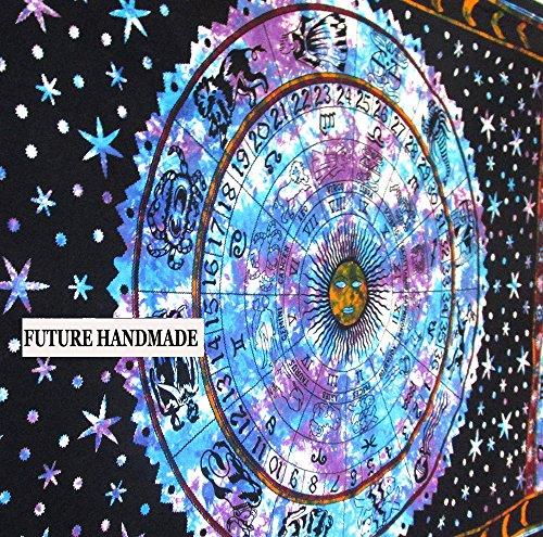 Future Handmade Mandala sun moon tie dye twin tapestry wall tapestry hippie wall