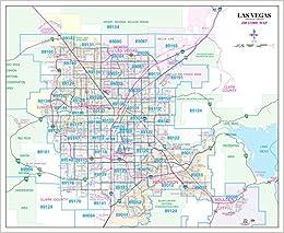 Las Vegas Arterial Collector Zip Code Wall Map Dry Erase Laminated