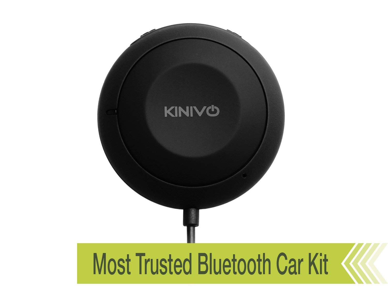 Kinivo BTC450 Bluetooth Hands-Free Car Kit for Cars with Aux Input Jack (3.5 mm) - Supports AptX (Renewed) by Kinivo
