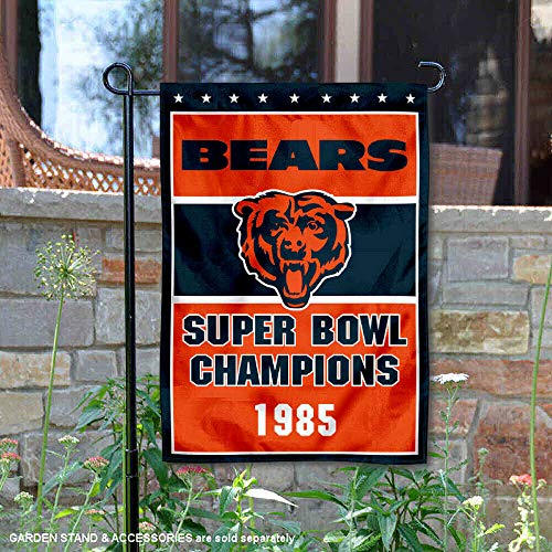 - Wincraft Chicago Bears 1985 Super Bowl Champions Double Sided Garden Flag
