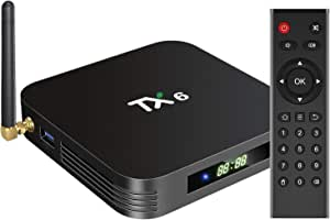 pendoo Android 9.0 TV Box, TX6 Android TV Box 4GB DDR3 32GB EMMC Dual WiFi 2.4G+5G Bluetooth Quad Core 3D 4K Ultra HD H.265 USB3.0 Android TV Box…