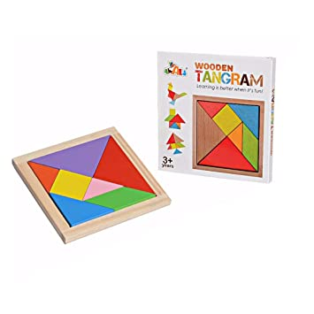 Archana Creations Children Mental Development Tangram Magic Wooden Jigsaw Puzzle Educational Toys for Kids
